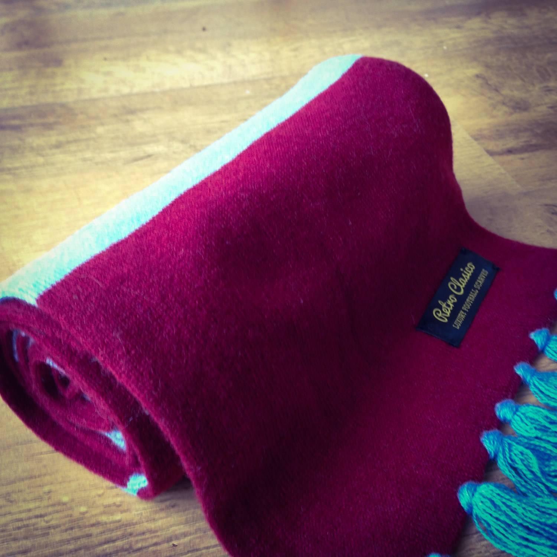 7944f387ba545 Aston Villa Luxury Merino Wool Striped Football Scarf