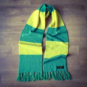 2917c85e86edd Norwich City Luxury Merino Wool Striped Football Scarf