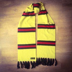 ca8ad31971748 Watford Luxury Merino Wool Striped Football Scarf