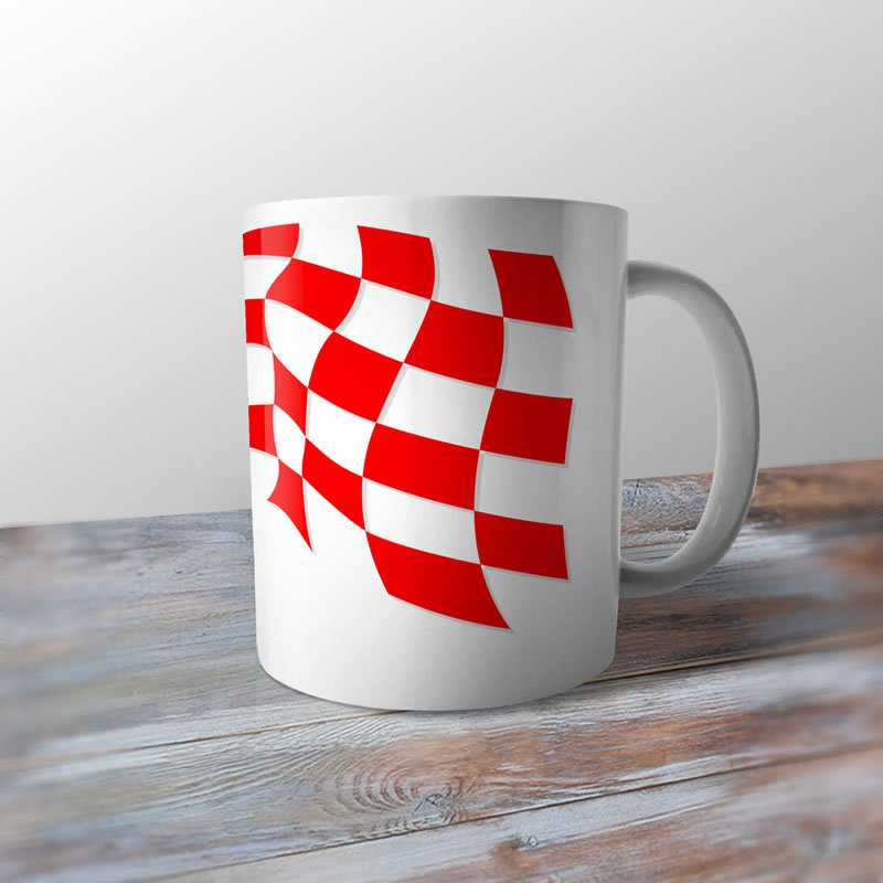 d2ed13ea7e8 Croatia 1988 Football Shirt Retro Ceramic Coffee Mug   Cup