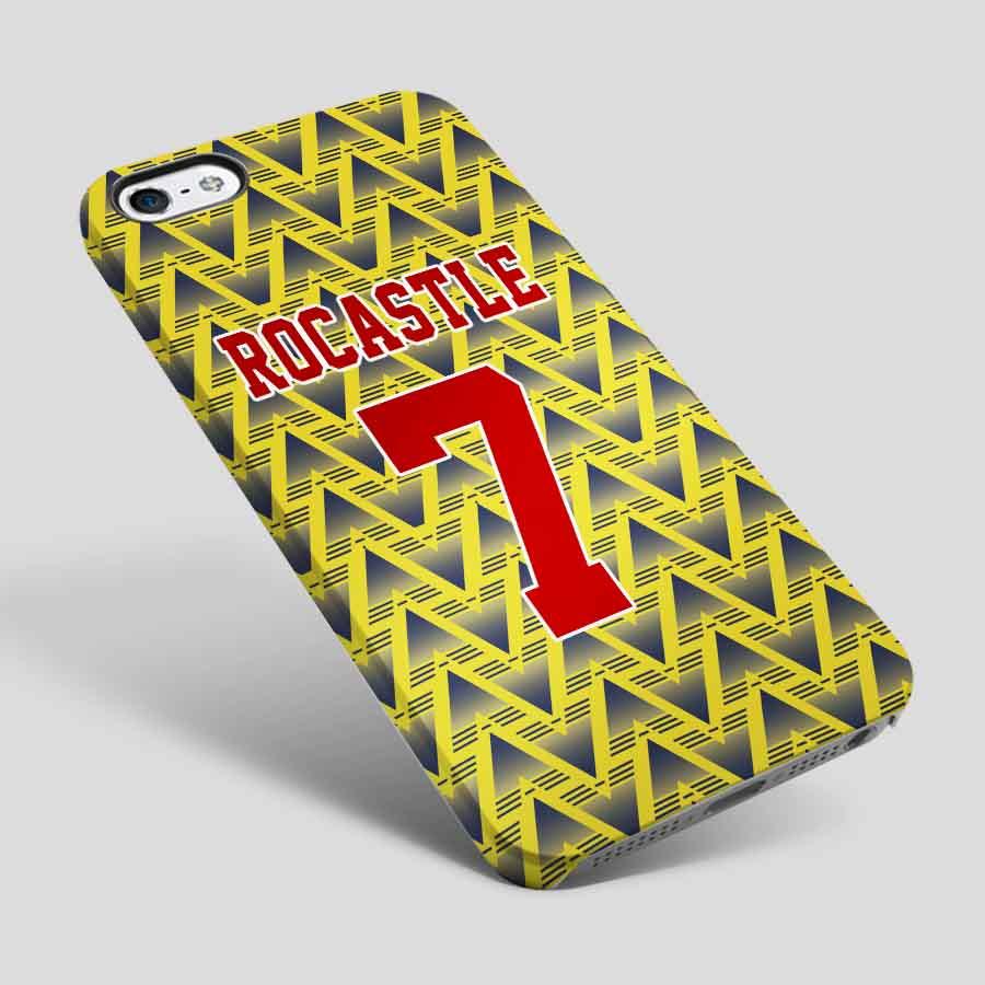 053b2c61b Arsenal 1991 Away Personalised iPhone   Samsung Football Phone Case