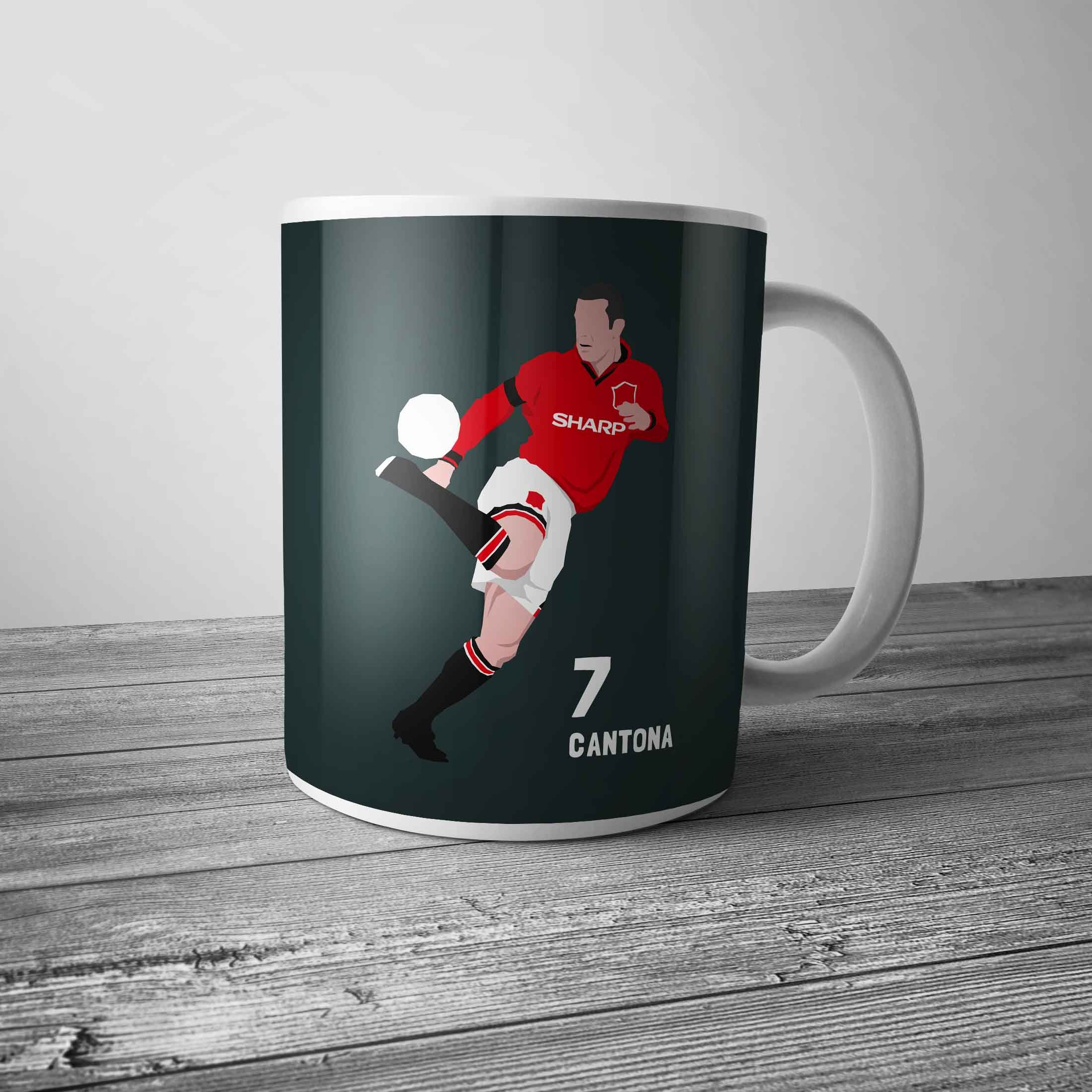 ed869d584c0 Eric Cantona - Manchester United Retro Football Ceramic Coffee Mug   Cup