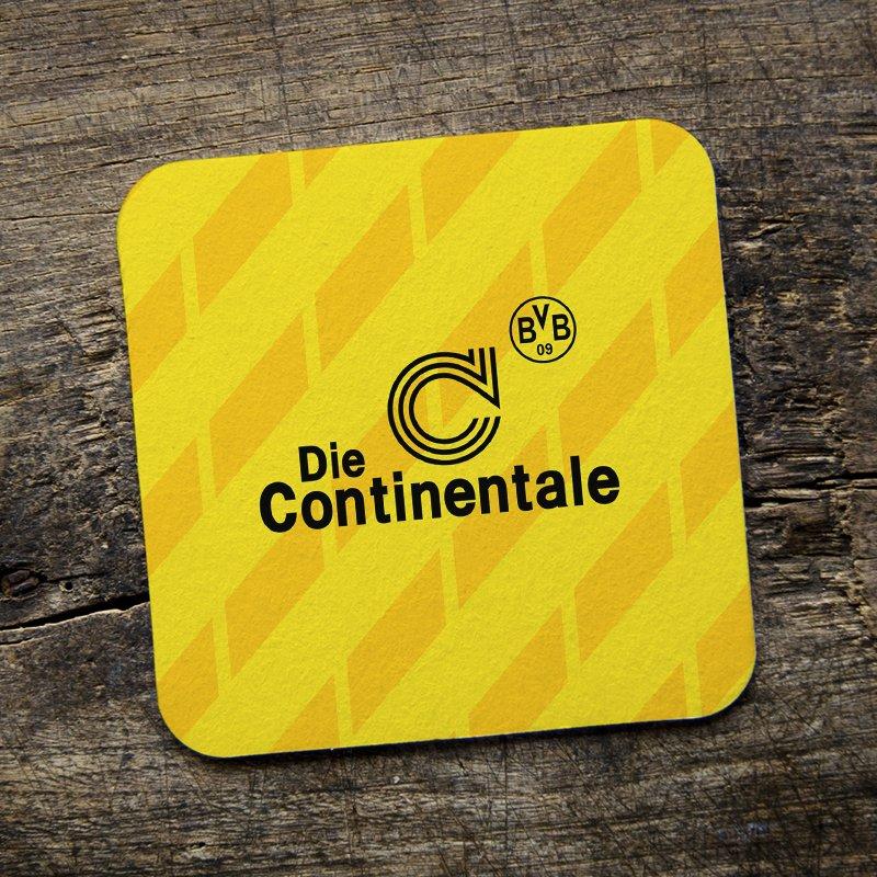 size 40 18663 19b29 Borussia Dortmund Retro Football Shirt Coffee/Drinks Coaster